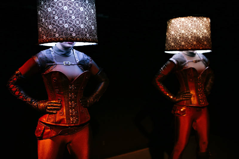 Live Lampshade Statues